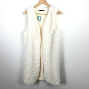 NWT MAURICES LONG SHEARLING FAUX FUR VEST